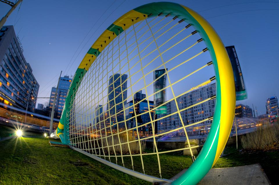 Tennisracket op het Hofplein tijdens het ABN/AMRO Tennistoernooi in AHOY!