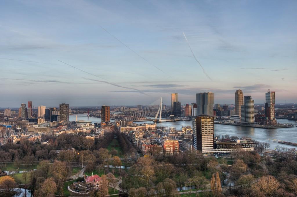 Rotterdam, daar moet je naartoe! Uitzicht vanaf de Euromast.