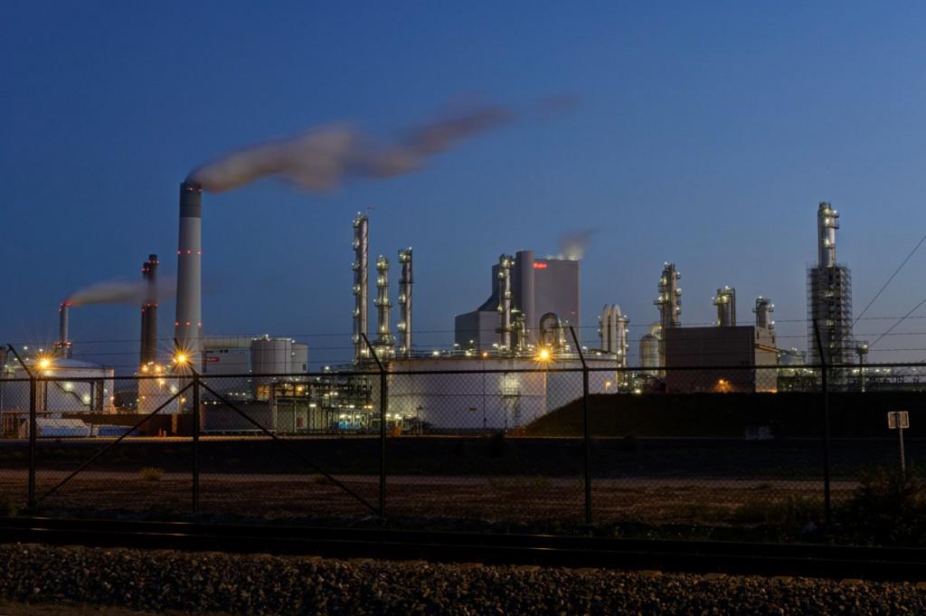 De fabriek van E.ON op de Maasvlakte 2