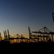 De havens in de avond